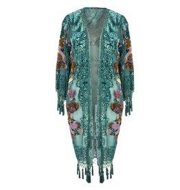 Jay Ley DVRJP285A Long patterned Silk Devore Jacket
