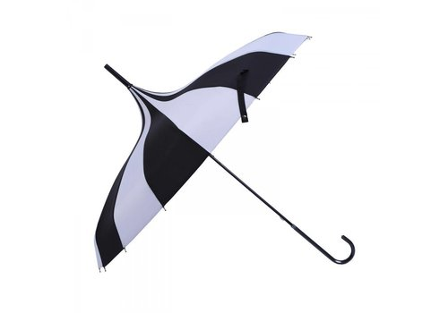 Umbrellas TW04 Black/White Pagoda Umbrella