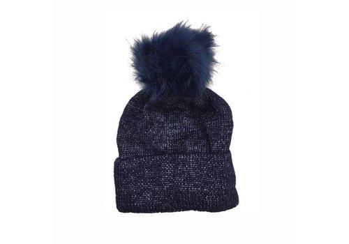 Peach Accessories FF14 Navy (Faux Fur) Hat