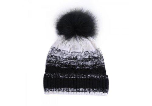 Peach Accessories SD02 Graduated Wool Hat in Black