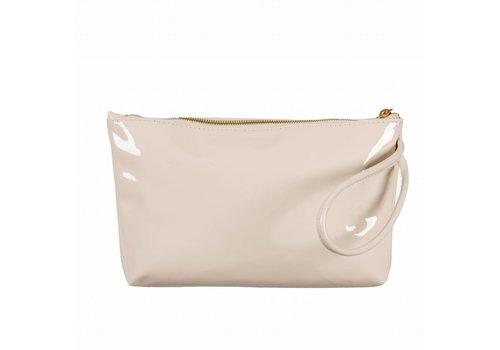 Le Babe Le Babe Cream Patent Ziptop bag