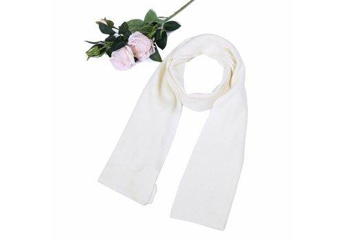Peach Accessories SD12 White Wool Scarf