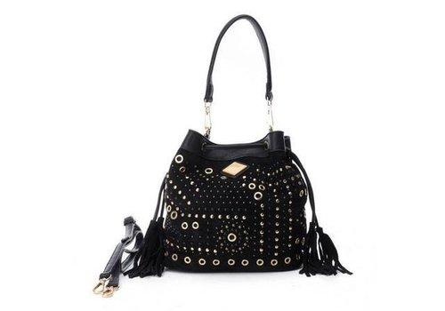 Carmela Carmela 85902 Black Suede Bag