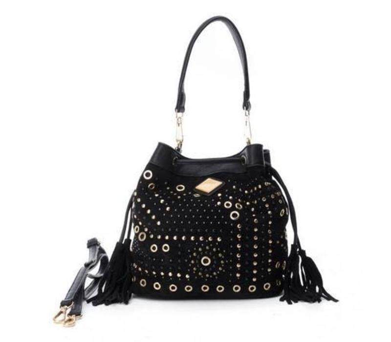 Carmela 85902 Black Suede Bag
