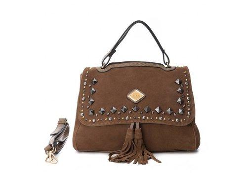 Carmela Carmela 85911 Taupe Suede Bag