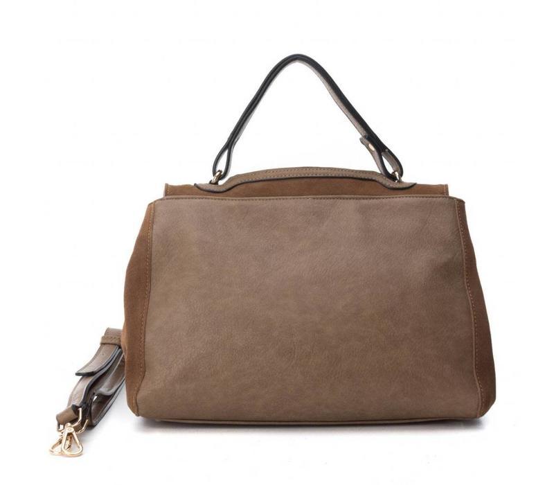 Carmela 85911 Taupe Suede Bag