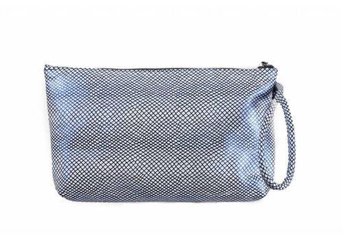 Le Babe Le Babe Bag Navy/White Lattice Ziptop