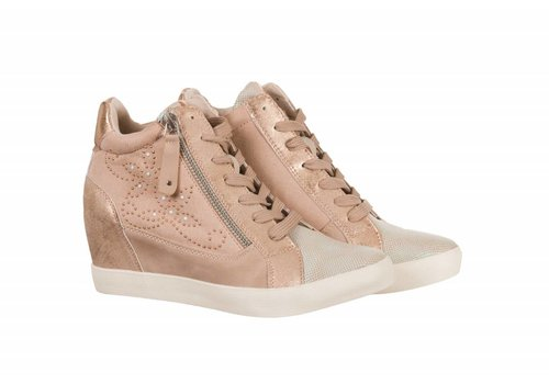 Sprox Sprox 384736 Nude Wedge Sneaker