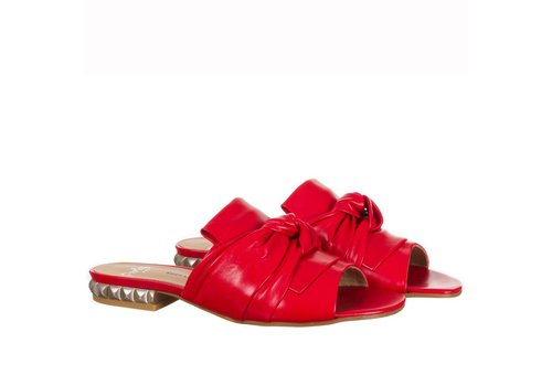 Perlato Perlato 10585 Red leather sliders