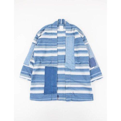 Soulive White Indigo Stripe Empower Haori Jacket