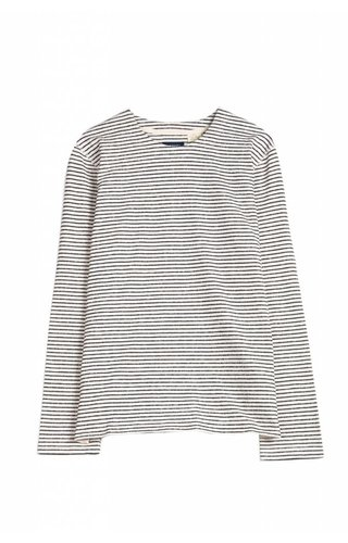 Levi's Made & Crafted Long Sleeve Tee Grey Heather Stripe