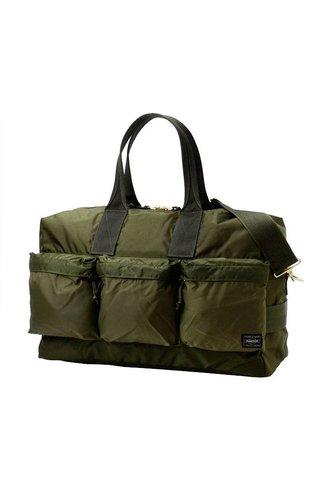 Yoshida Porter Force 2-Way Duffle Bag Olive