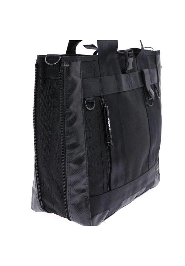 Heat 2-Way Tote Bag Black