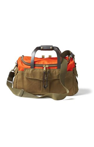 Filson Heritage Sportsman Bag Orange / Dark Tan