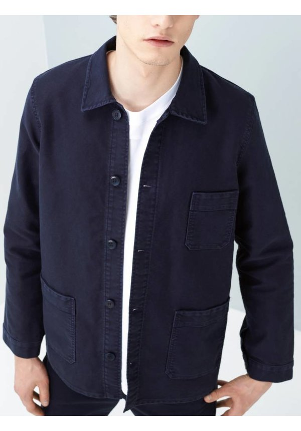 Le Mont Saint Michel Genuine Work Jacket Navy