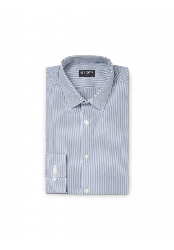 Brodie Shirt Royal Blue Stripe
