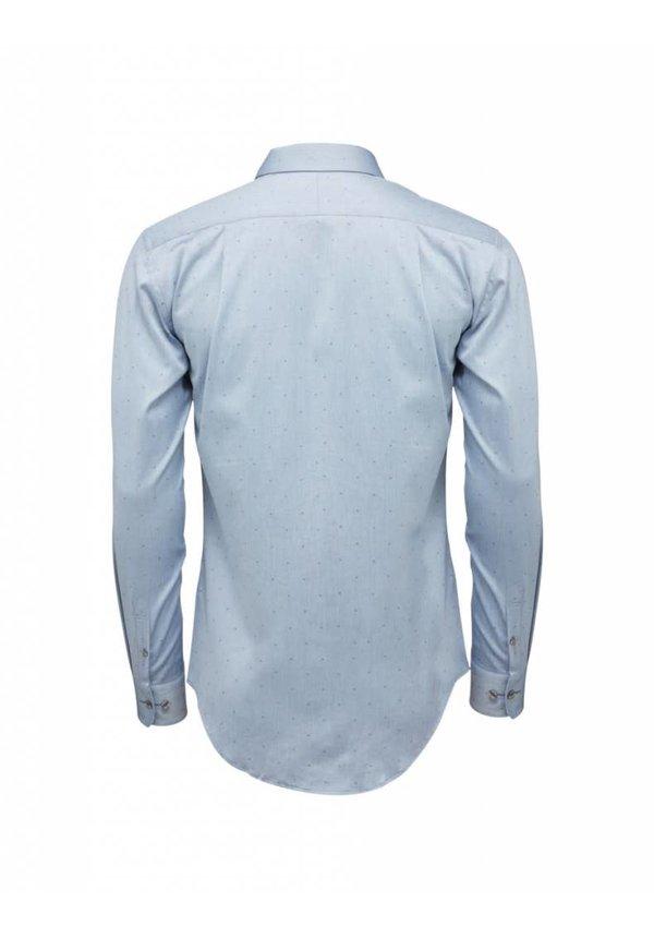 Farrell Cotton Shirt Blue 001