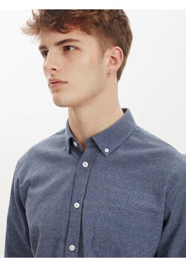 Hunter Dress Shirt Blue Nep