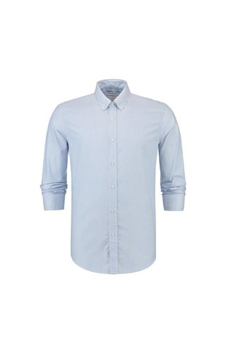 the Good People The Good People Oxford Shirt Stripe Light Blue