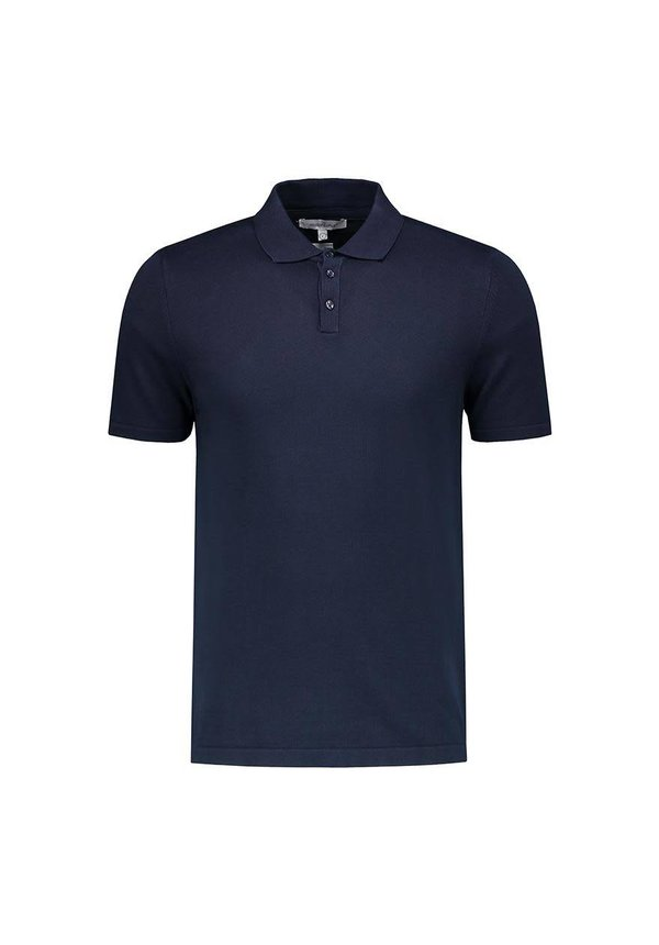 The Good People Polo Knit Navy