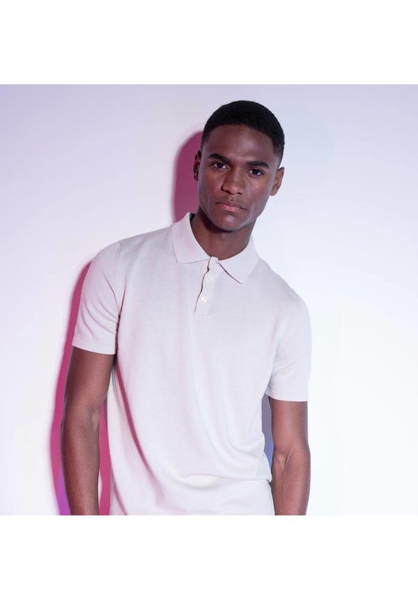 The Good People Polo Knit Off White
