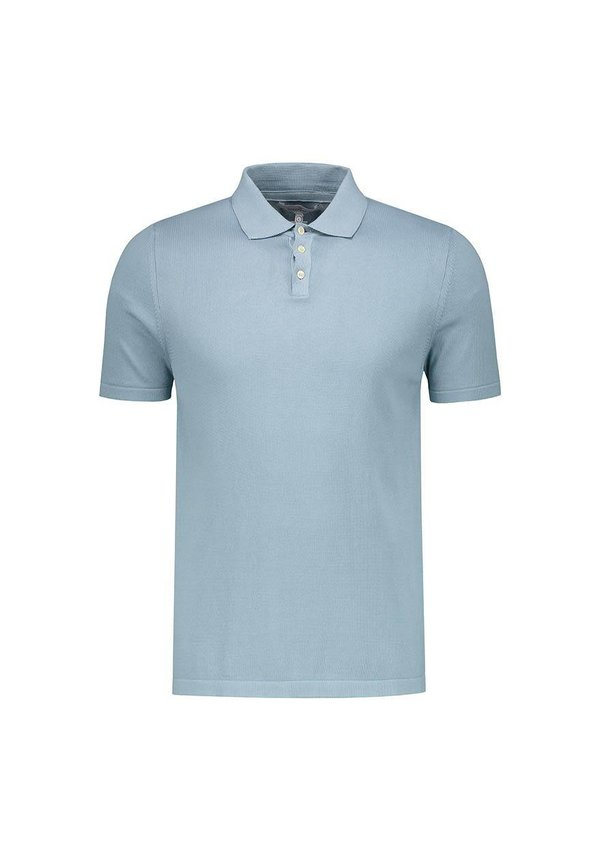 The Good People Polo Knit Stone Blue