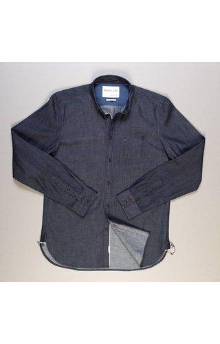 Denim.Lab Denim.Lab Hidden Shirt Compact Selvage Dark Indigo