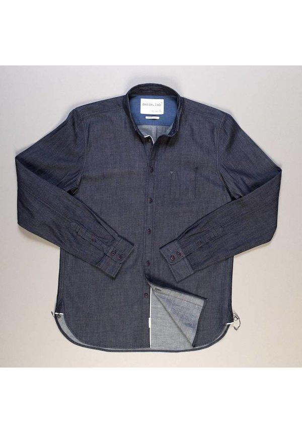 Denim.Lab Hidden Shirt Compact Selvage Dark Indigo