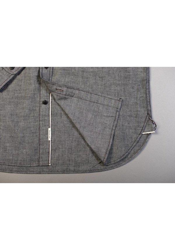 Denim.Lab Hidden Shirt Grey Chambray