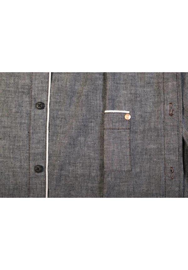 Hidden Shirt Grey Chambray