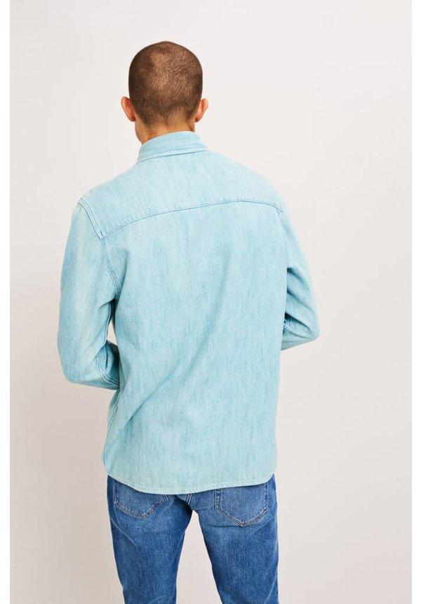 Samsoe Samsoe Waltones Overshirt Light Blue Denim