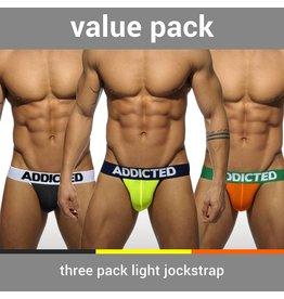 Addicted ADDICTED Three Pack Light Jockstrap