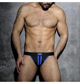 Addicted Addicted Fetish Stripe Jockstrap blau