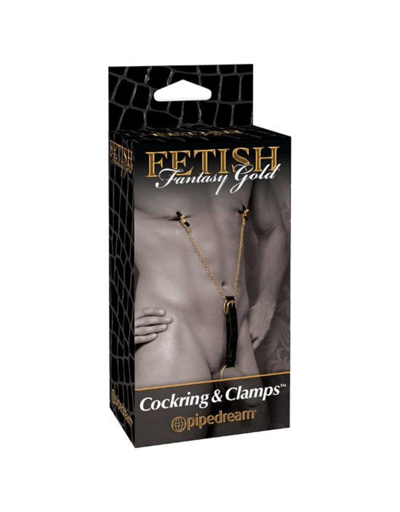 Fetish Fantasy Series Fetish Fantasy Gold Cockring & Nippelklammern
