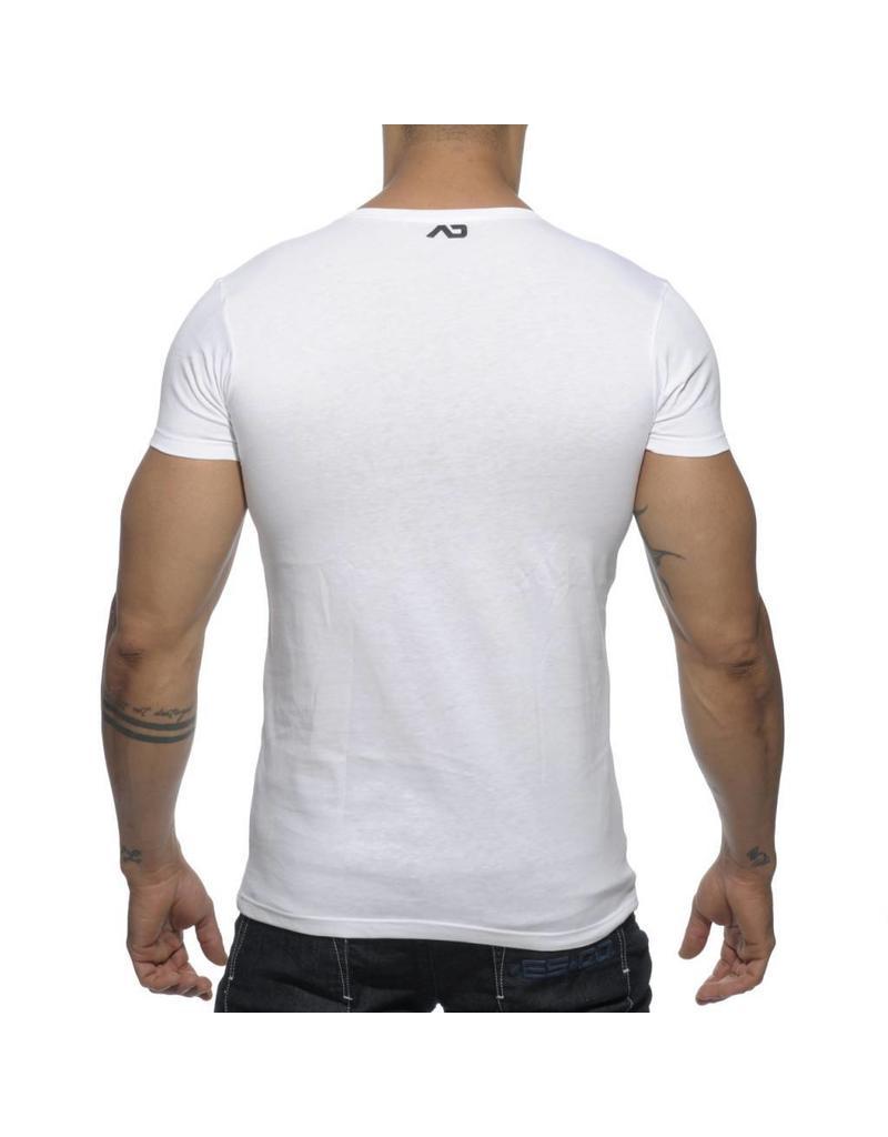 Addicted ADDICTED Bear T-Shirt weiss