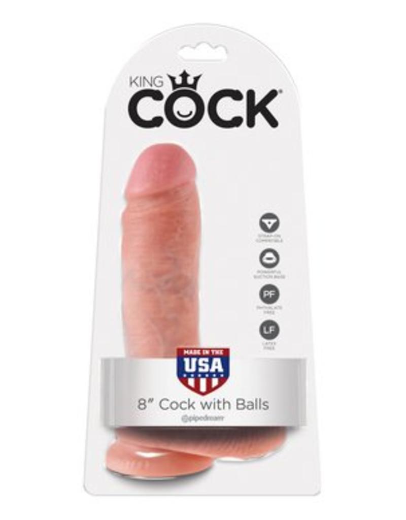 "King Cock King Cock with Balls 8"""
