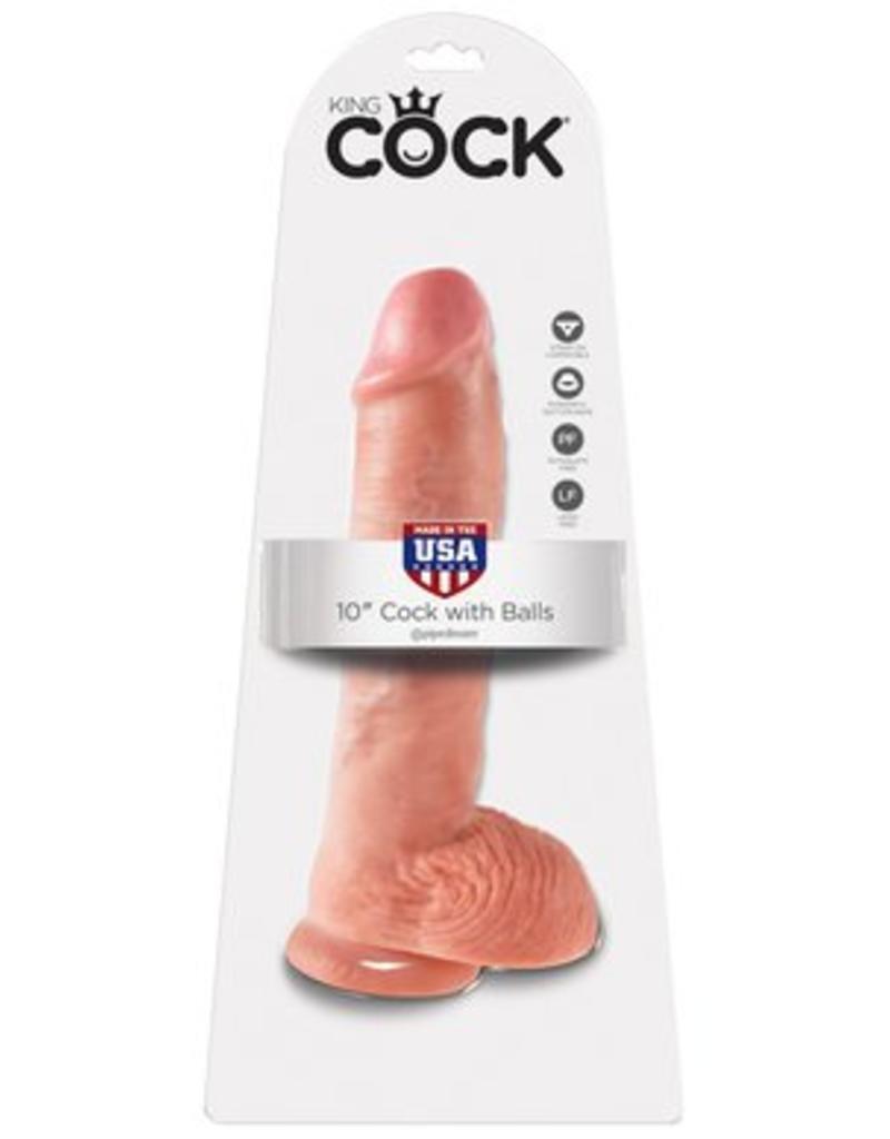 "King Cock King Cock with Balls 10"""