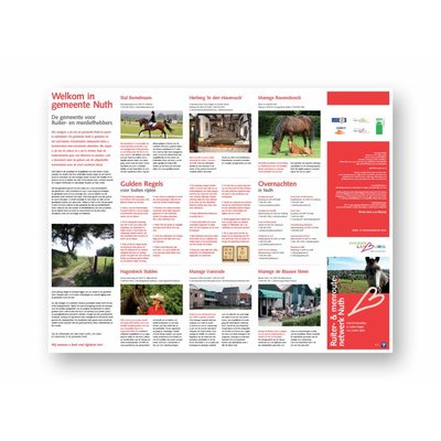 Eigen uitgave VVV Zuid-Limburg Ruiter- & Menroutenetwerk Nuth