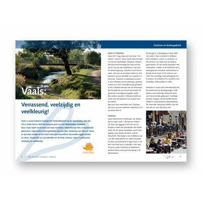 Eigen uitgave VVV Zuid-Limburg Brochure 'Vaals! Verrassend, veelzijdig en veelkleurig'