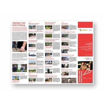 Eigen uitgave VVV Zuid-Limburg Fietsbrochure 'Asperges in Zuid-Limburg'