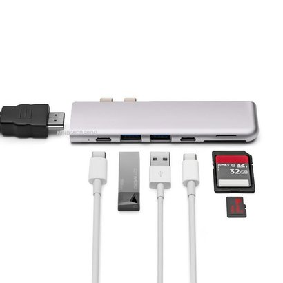 MINIX NEO C-D USB-C Multiport Adapter for MacBook Pro Space Gray