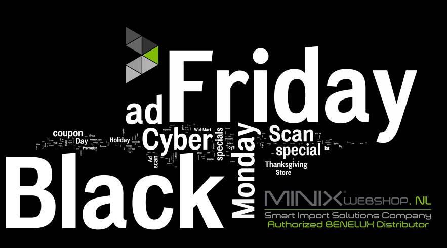 Black Friday en Cyber Monday MINIX 2017