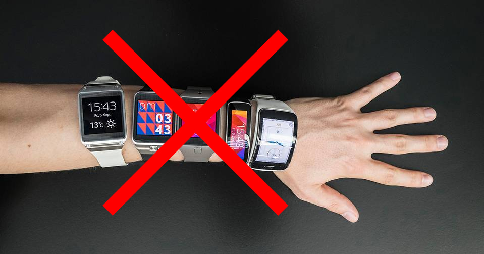 no tradition smartwatches!