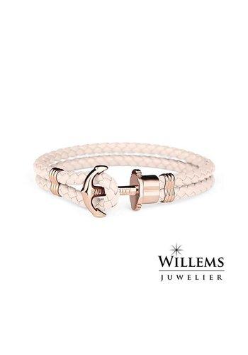 Leather bracelet Rose gold Pink PH-PH-L-R-Pr