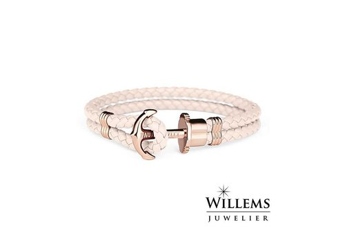 Paul Hewitt Leather bracelet Rose gold Pink PH-PH-L-R-Pr