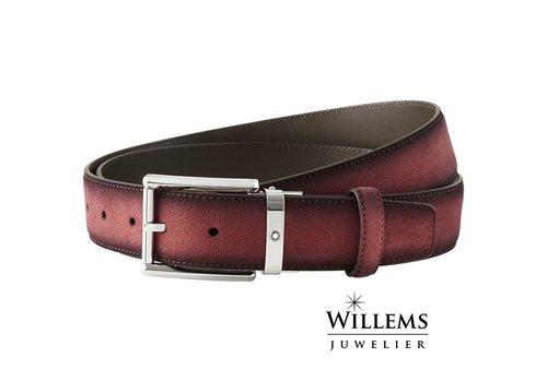 Montblanc Leather Belt SFumato Suede Burgundy 116723