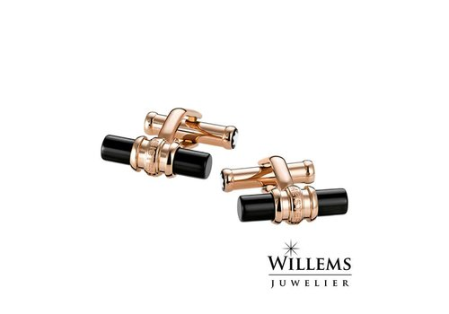 Montblanc Meisterstuck Rose Gold-Tone PVD Onyx Cuff links 111310