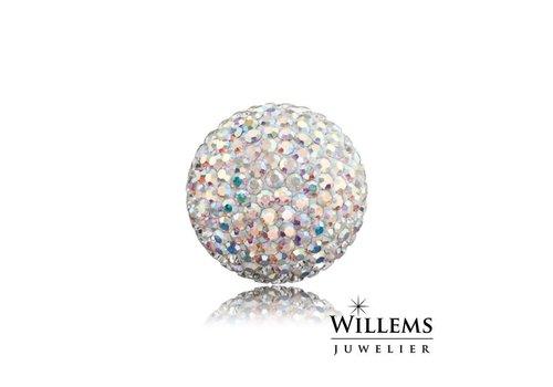 Engelsrufer zilveren klankbol met glitter large ERS-01-ZI-L