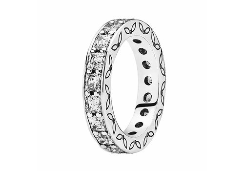 Pandora Silver ring with cubic zirconia 190894CZ Size 52
