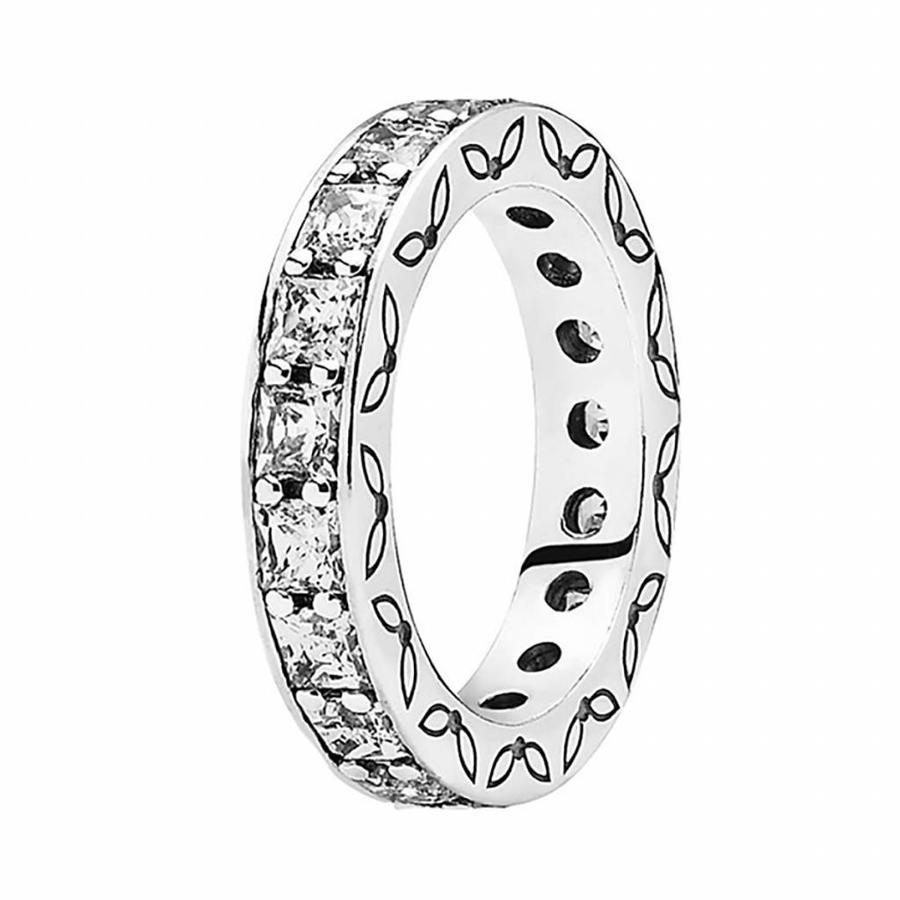 Silver ring with cubic zirconia 190894CZ Size 52